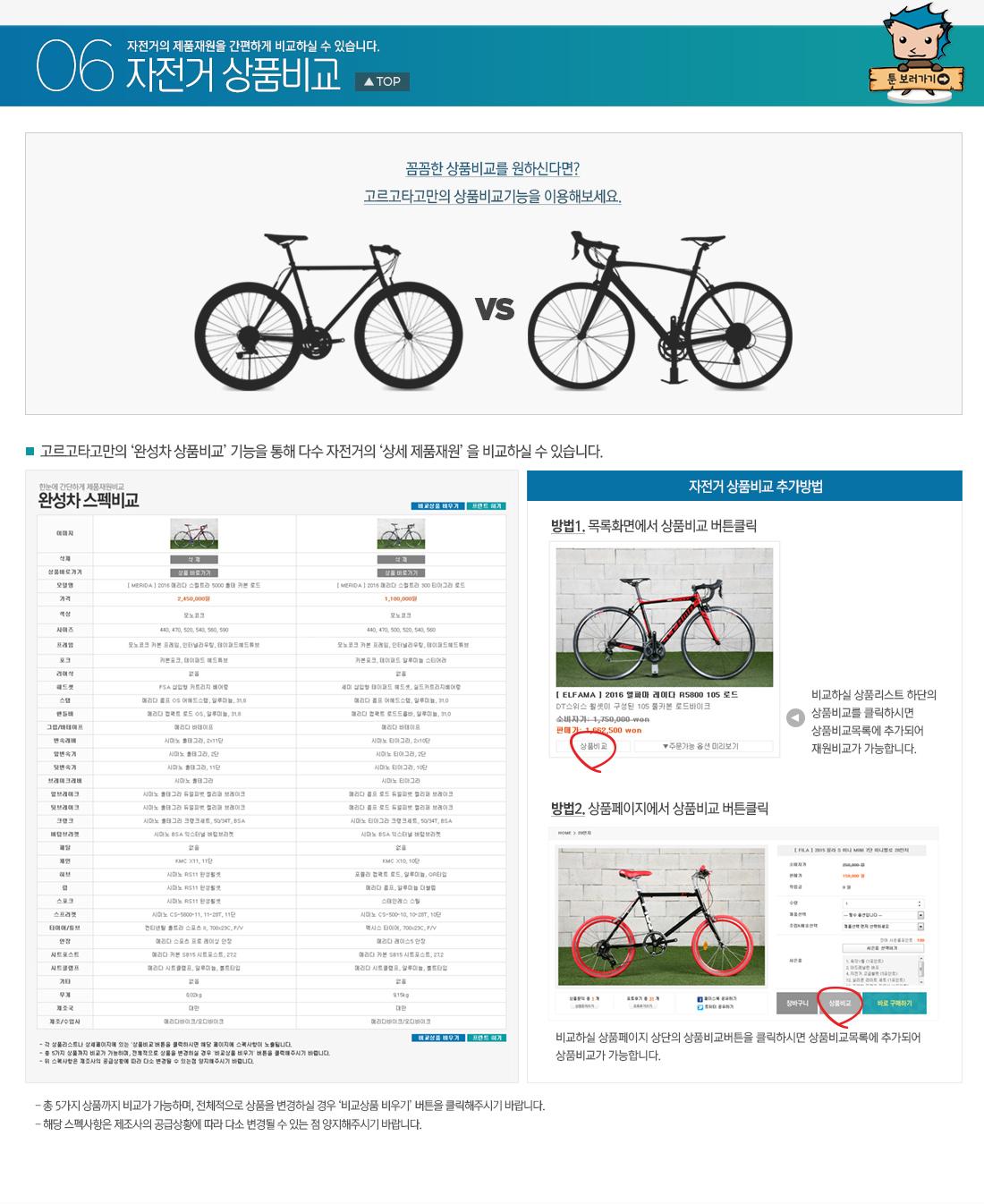 자전거 상품비교